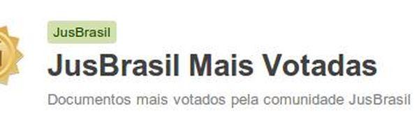 Quais são as publicações mais votadas do Jusbrasil?