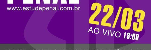Estude penal AO VIVO – ESPECIAL, dia 22/03, às 18h com os profs. Luiz Flávio Gomes e Alice Bianchini