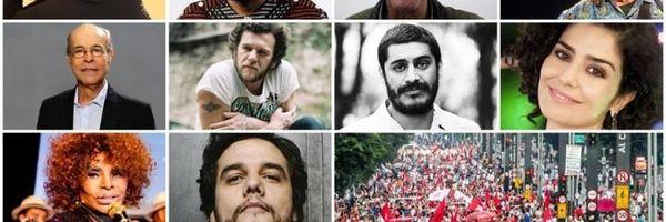 """Estes artistas lhe representam? Ministério da Cultura como o """"ganha pão"""" dos milionários? E o Brasil?"""