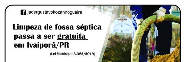 Limpeza de fossa séptica passa ser gratuita em Ivaiporã