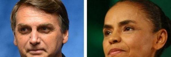 Bolsonaro e Marina não têm direito a participar de debates de rádio e TV