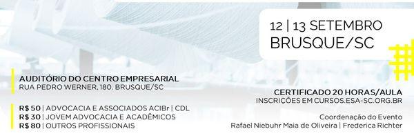 1º Congresso Catarinense de Direito da Moda em Brusque - SC