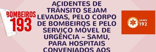 Pessoas feridas em acidentes de trânsito podem ser levadas para rede médica particular.