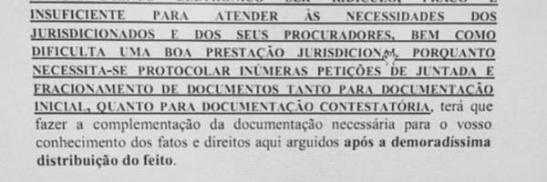 Em petição, advogado baiano pede que 'capeta' cuide de quem aprovou PJE