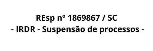 REsp nº 1869867 / SC
