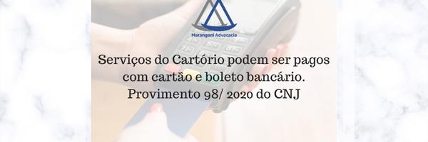 Serviços do Cartório podem ser pagos com cartão e boleto bancário
