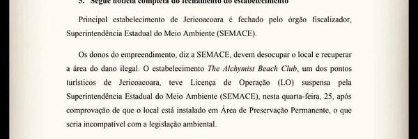 Análise de Caso Concreto de Edificação de Empreendimento em JERICOACOARA – Construção de Empreendimento em Área de Preservação Permanente (APP´s)