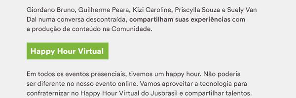 Confira a programação do Evento Online da Comunidade Jusbrasil