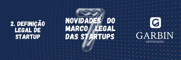Definição legal de Startup