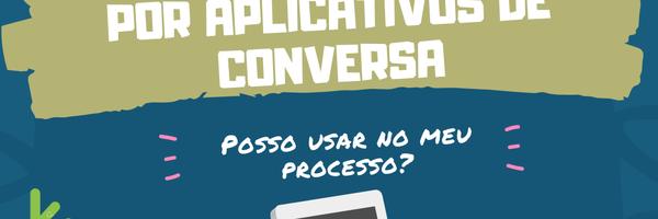 Mensagens produzidas por aplicativos de conversa