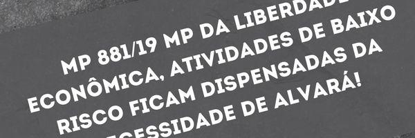 Importantes alterações relativos ao ALVARÁ com a MP da Liberdade Econômica