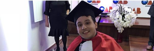Jovem com paralisia cerebral no AM é aprovado na OAB: 'estou sem acreditar', diz