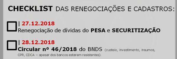 Dezembro de prazos para o Agronegócio! (CAR, PRR, Pesa/ Securitização e Circular nº 46 do BNDS)