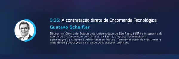 Gustavo Schiefler ministra palestra sobre a contratação direta de Encomenda Tecnológica