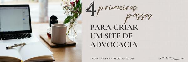 4 primeiros passos para criar um site de advocacia