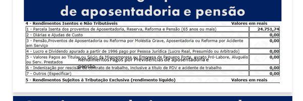 Aposentadoria e pensão são isentas do imposto de renda | No valor de até R$ 1.903,98.