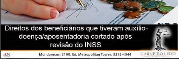 Direitos dos beneficiários que tiveram auxílio-doença cortado após revisão do INSS.