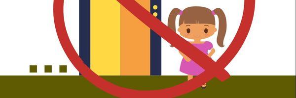 Proibição de criança desacompanhada em elevador
