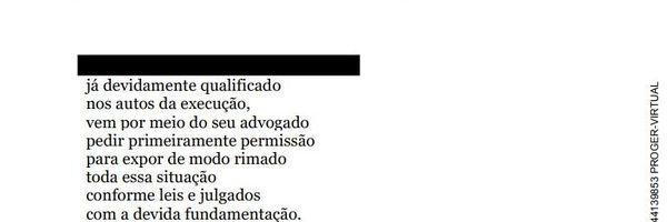 """Petição em versos intitulada """"A saga pelo pagamento devido"""""""
