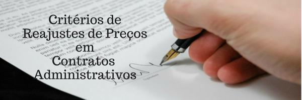 Critérios de Reajustes de Preços em Contratos Administrativos