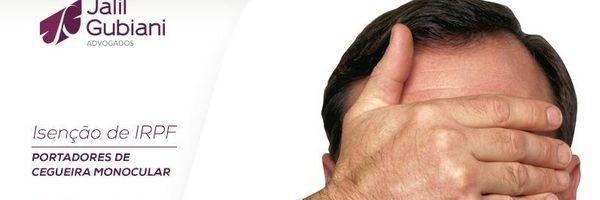 Isenção de IRPF aos portadores de cegueira monocular