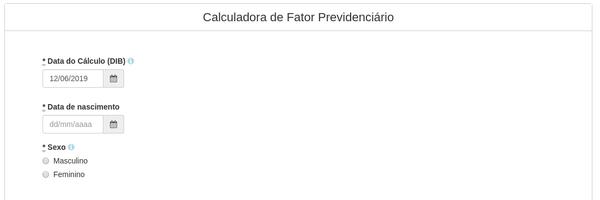 Calculadora de Fator Previdenciário no seu site