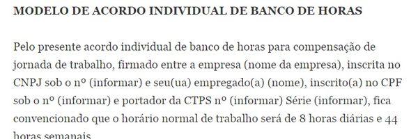 Banco de Horas - Compensação de Horas