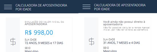 Calculadora da aposentadoria por idade com simulador de renda mensal