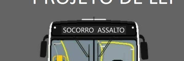 """Letreiro com """"Socorro, assalto"""" pode virar obrigatório em todos ônibus"""