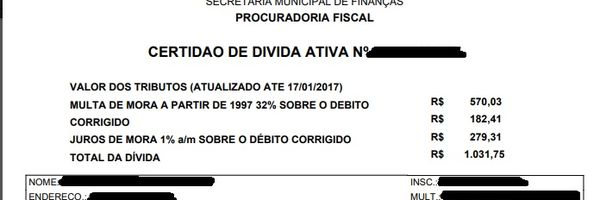 O que é Certidão de Dívida Ativa - CDA?