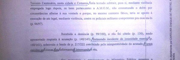 Correção do relato editado de forma errada do quadro de: RYAN F. R. MENDES. Anexo original do processo publicado de maneira equivocada.