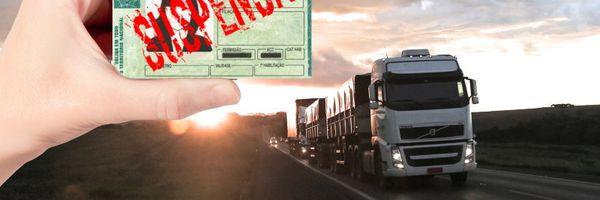 Declarada Justa Causa de motorista por ter sua CNH suspensa