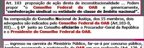 A OAB na Constituição de 1988