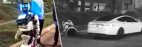 """Robô autônomo é atropelado e """"morto"""" por carro sem motorista da Tesla"""