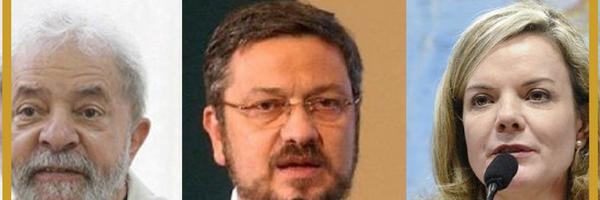 Corrupção e lavagem de dinheiro: Lula, Palocci e Gleisi sãodenunciados pela PGR.