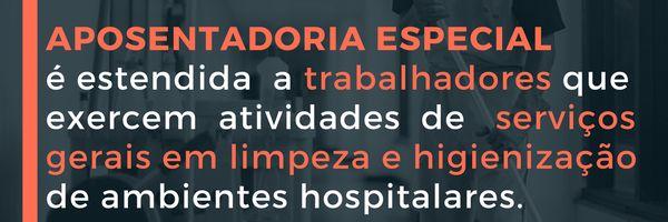 Aposentadoria especial é estendida a todos que atuam em ambiente hospitalar