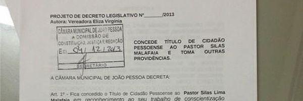Eliza diz que cidadania pessoense a Silas Malafaia terá aprovação de 90% e defende: 'Eduardo Campos vai receber'