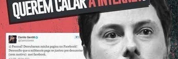 Danilo Gentili é censurado no Facebook, perde perfil e culpa 'cibernética tropa de choque do PT'