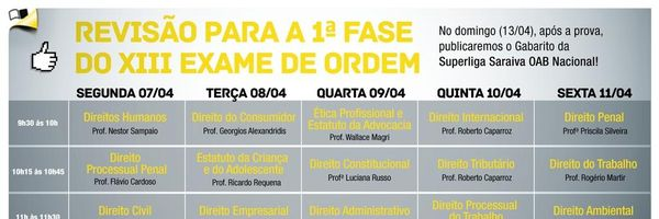 Revisão do Saraiva Prepara para a 1ª fase da OAB