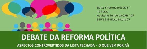 Debate da reforma política
