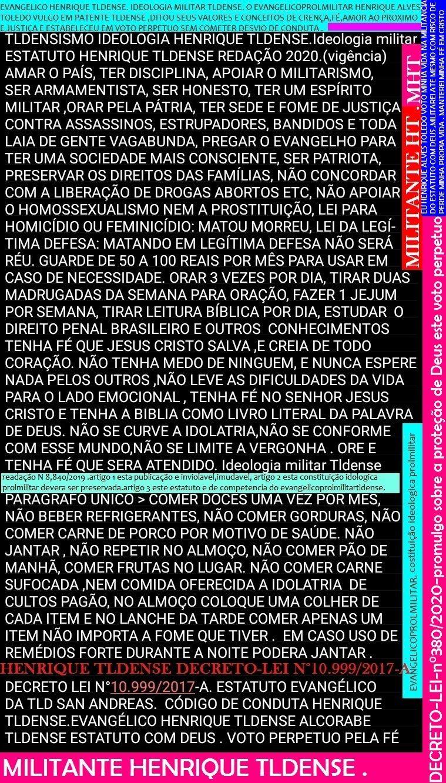 ESTATUTO HENRIQUE TLDENSE DECRETO-LEI-N°10.999/2017-A ATUALIZAÇÃO DO DIA 30/04/2020
