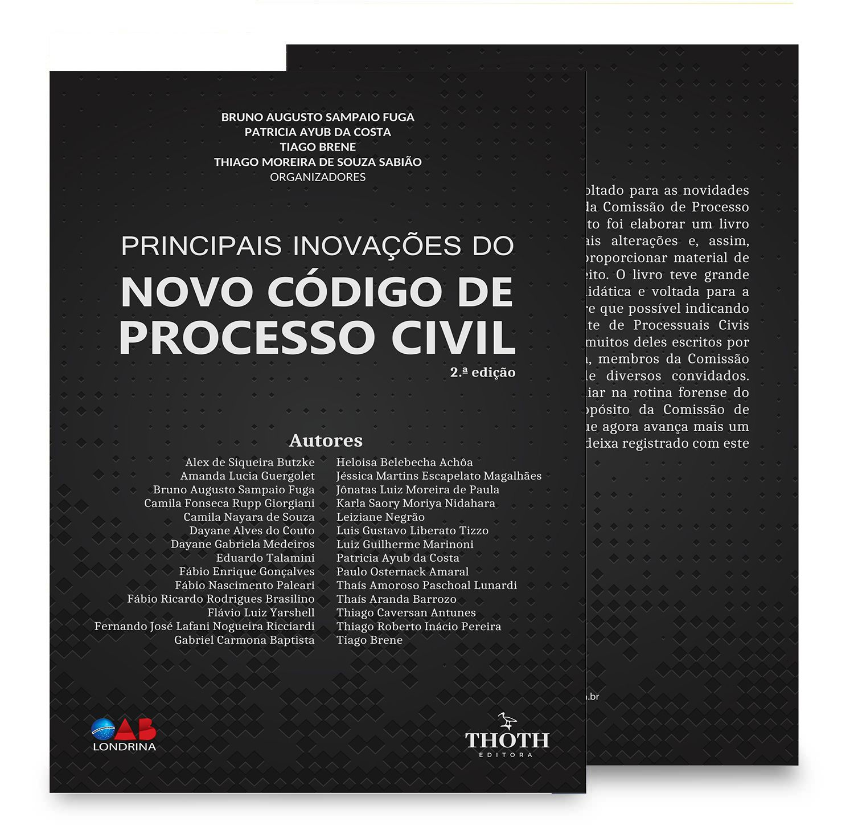 Principais inovações do novo código de processo civil – 2.ª edição