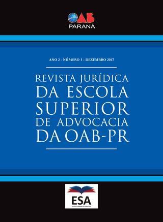 Revista Jurídica da Escola Superior de Advocacia da OAB PR