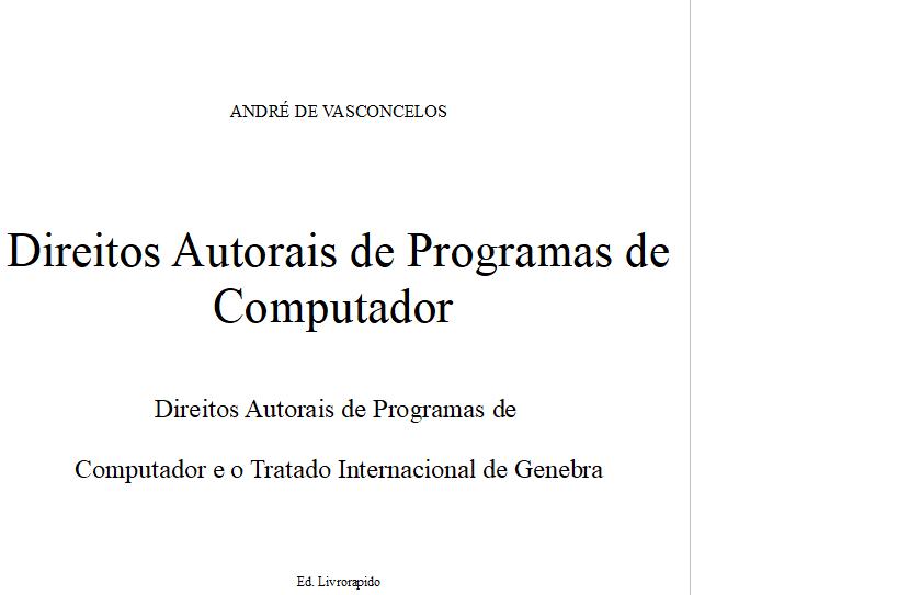 Direitos Autorais de Programa de Computador