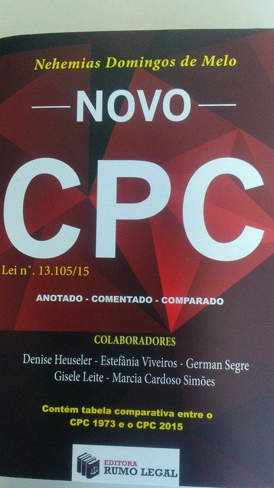 Novo CPC Comentado, Anotado e Comparado