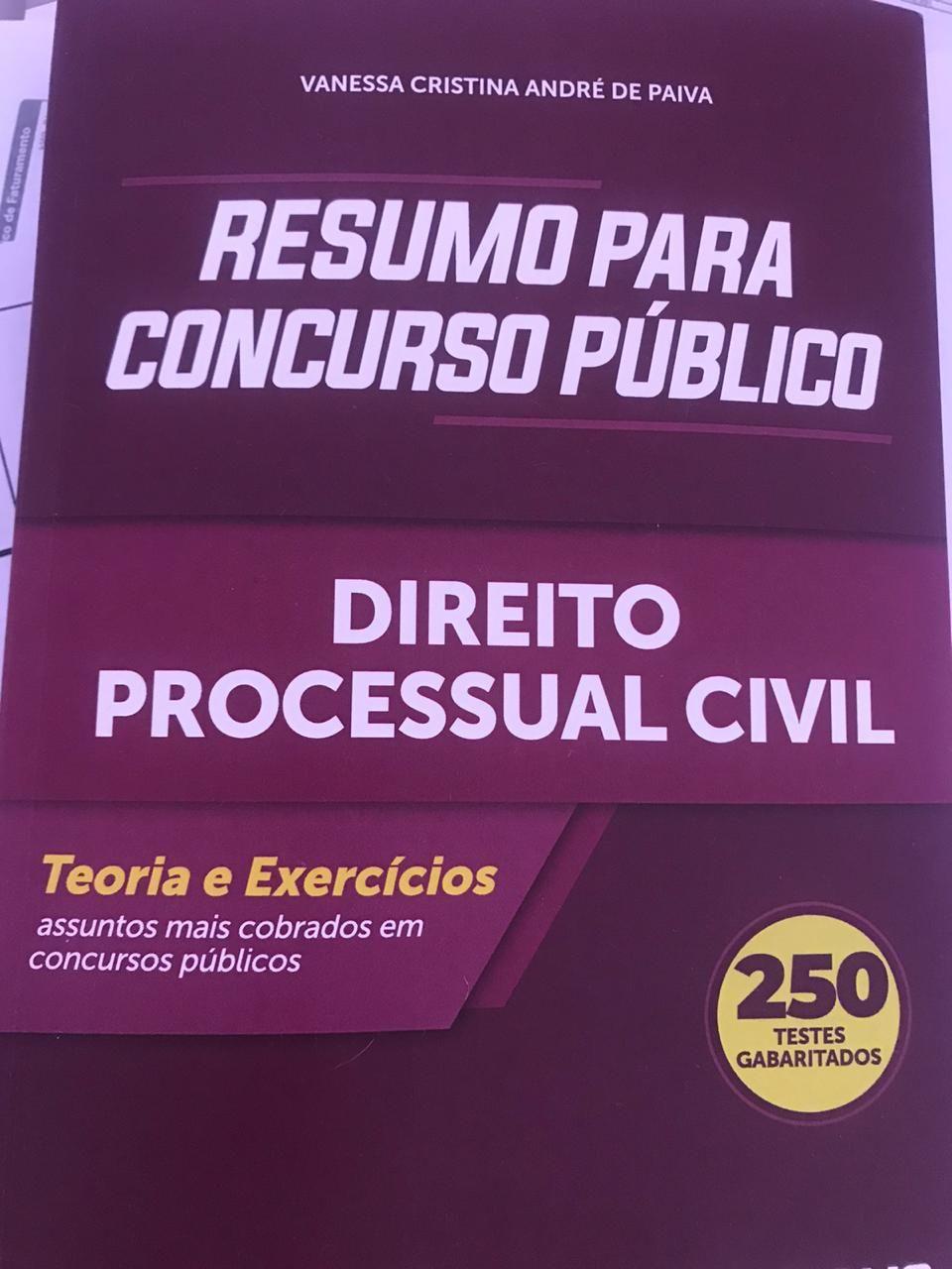 RESUMO PARA CONCURSOS PÚBLICOS - PROCESSO CIVIL