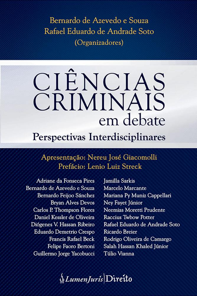 Ciências criminais em debate: perspectivas interdisciplinares
