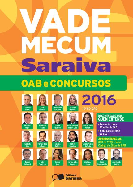 Vade Mecum Saraiva - OAB e Concursos - 10ª Ed. 2016 (Cód: 9353451) Editora Saraiva Saraiva
