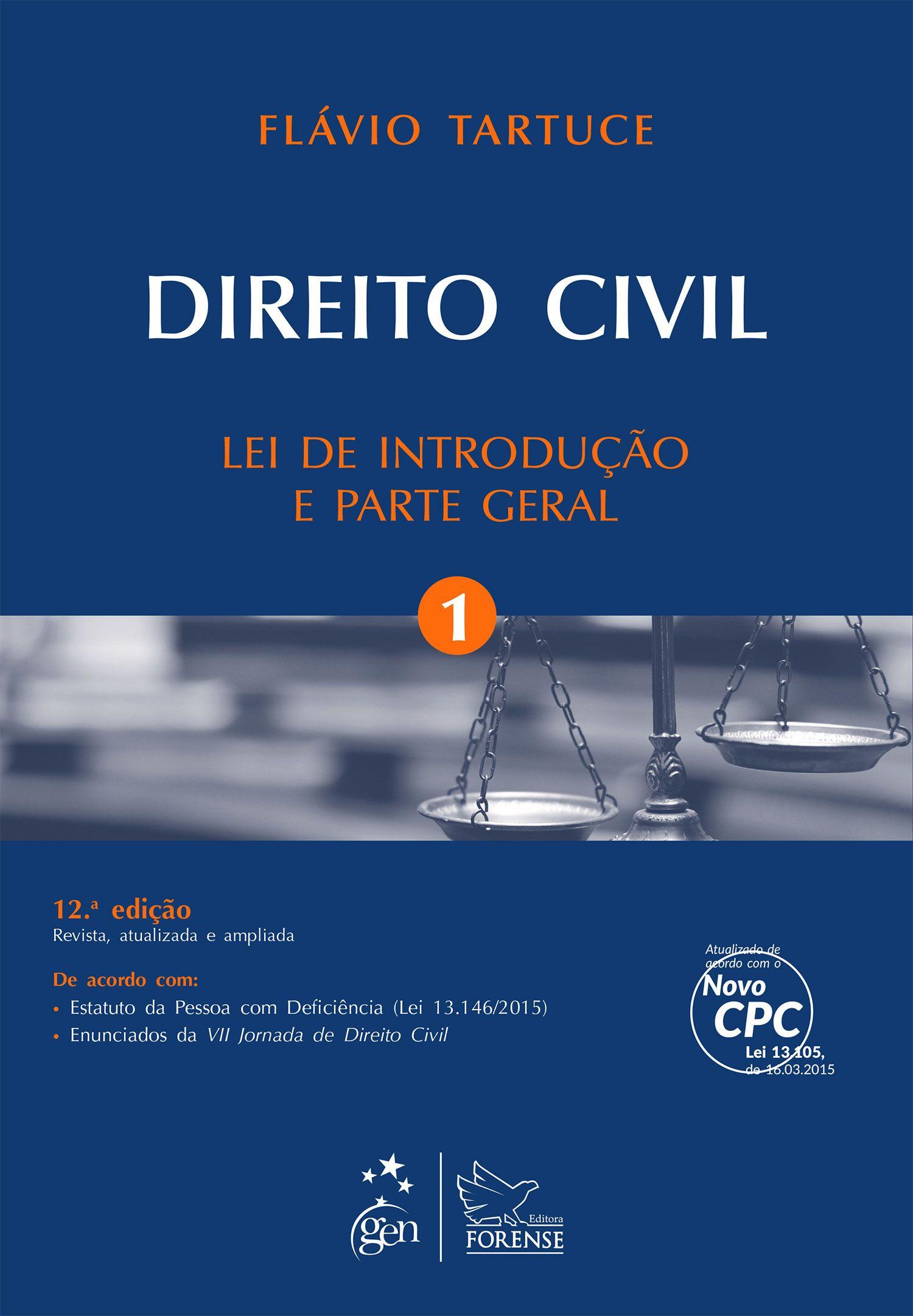 Direito Civil. Volume 1.