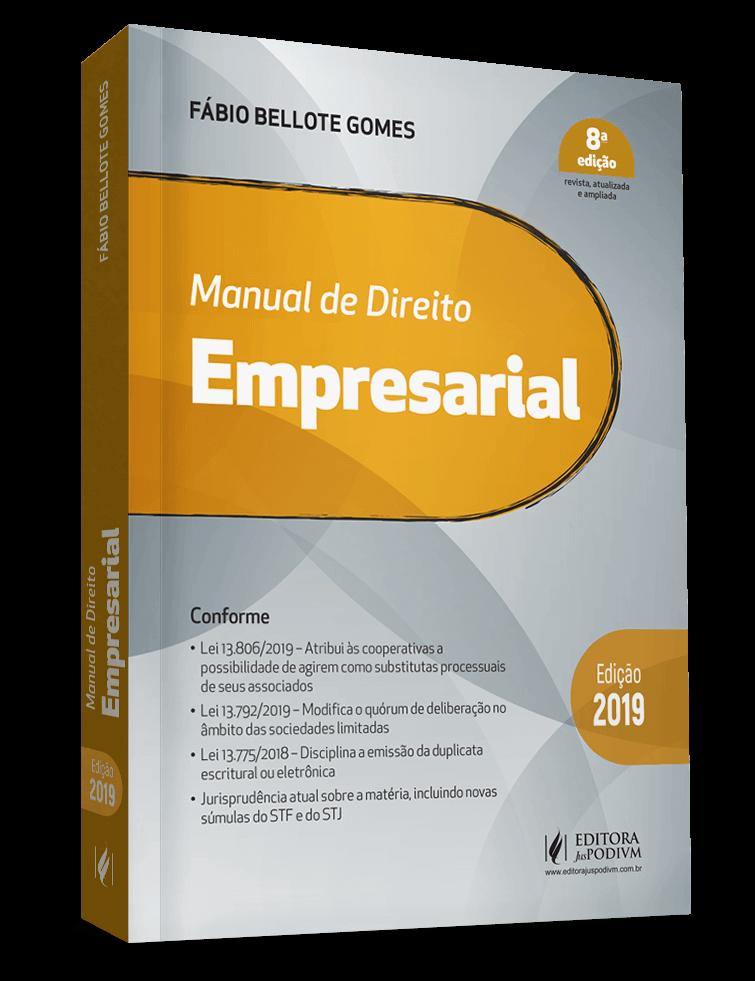 MANUAL DE DIREITO EMPRESARIAL - 8ª edição - Ed. Juspodivm
